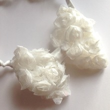 Rose Bow Hairband - Angelic White
